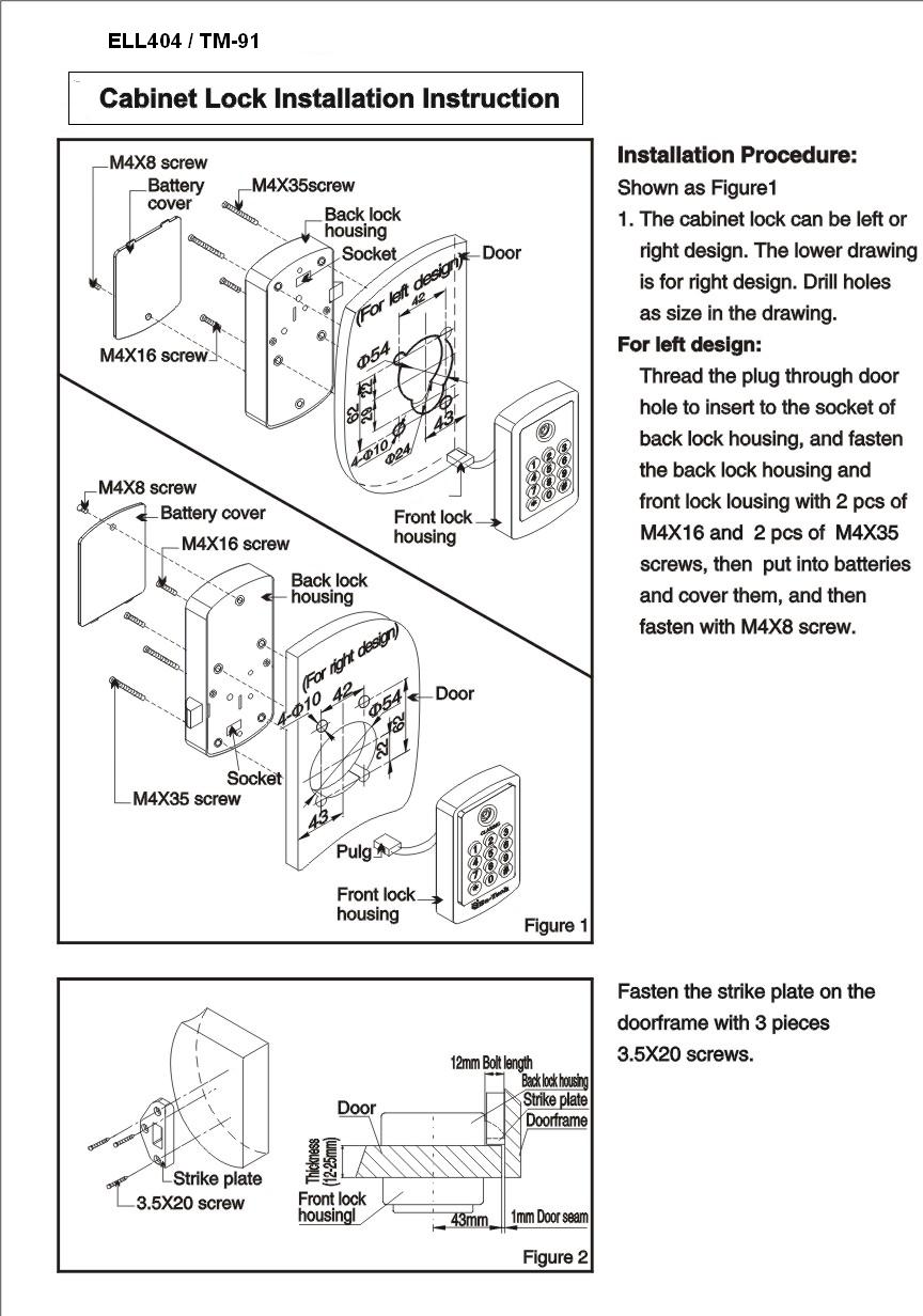 file cabinet lock installation instructions cabinets. Black Bedroom Furniture Sets. Home Design Ideas